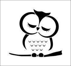 Owl drawing ref 406 Owl Stencil, Stencil Vinyl, Custom Stencils, Vinyl Decals, Stencil Painting, Silhouette Art, Silhouette Portrait, Owl Art, Easy Drawings