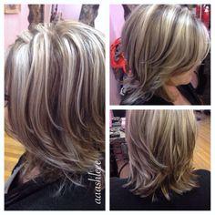 Ashy blonde platinum highlights lowlights