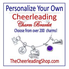 Personalize YOUR OWN Cheerleading Bracelet, Design Your Own Cheerleader Bracelet, Cheerleading Gift, Cheerleader Award, Cheerleading Coach by TheCheerleadingShop on Etsy