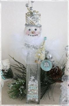 Love these Snowman Bottles