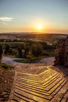 Via francigena in Moteriggioni, Tuscany, Italy