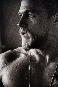 Ugh....Give me a minute while I wipe drool from my face. Charlie Hunnam aka Jax Teller.