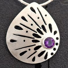 Amethyst Jewelry Amethyst Sterling Silver Necklace by EfratJewelry, $84.00