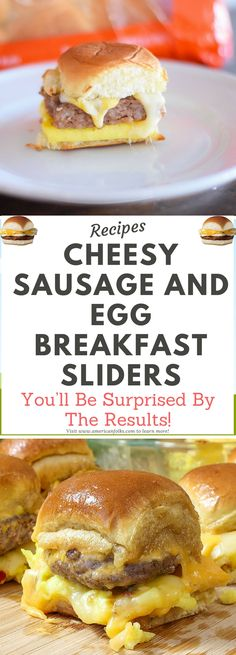 Cheesy Sausage and Egg Breakfast Sliders!!!!! !!!