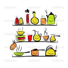 Resultado de imagem para retro desenho cozinha comida