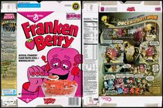 General Mills - Franken Berry - Target Exclusive retro cereal box - Halloween 2013