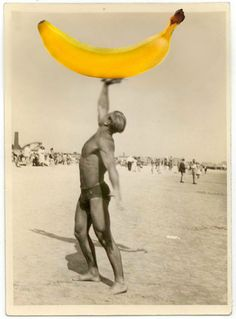 Muscle man with banana