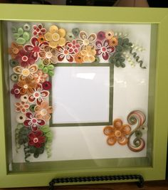 Quilled shadow box frame fall colors by Ginny Huff Quilling Paper Craft, Quilling Flowers, Quilling Ideas, Quilling Photo Frames, Quilling Tutorial, Quilling Techniques, Shadow Box Frames, Paper Frames, Craft Party