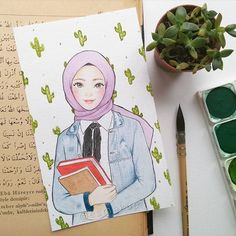 : D scarf is the most important bit within the outfits of females together with hija Hijab Drawing, Islamic Cartoon, Anime Muslim, Hijab Cartoon, Sketch Inspiration, Muslim Girls, Mode Hijab, Illustration Girl, Cute Disney