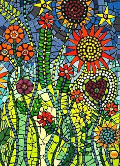 """DETAIL of """"If Only You Could See"""" .  Mixed media mosaic by Flair Robinson"""