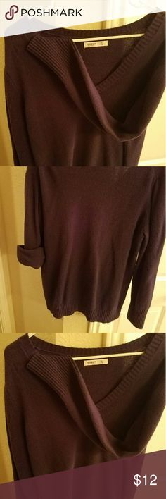 Old Navy Purple XL V-Neck Sweater Beautiful purple tight-knit sweater with ribbed cuffs. Old Navy Tops Tees - Long Sleeve
