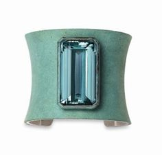 An Aquamarine and Copper Cuff Bracelet,  by Hemmerle