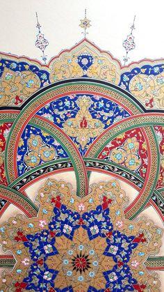 Islamic Art Pattern, Pattern Art, Arabesque, Paisley Art, Illumination Art, Islamic Paintings, Persian Motifs, Art Japonais, Iranian Art