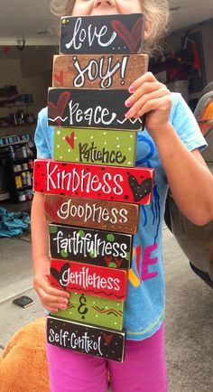 Fruit of the spirit wood sign..