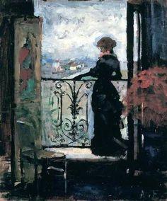 Lady on a Balcony - Albert Edelfelt