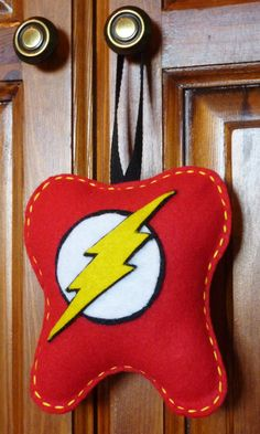 Handmade Personalized The Flash Tooth Fairy Pillow by CourtneesCreations