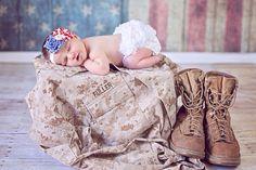Headband on Etsy. Military baby photo