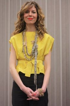 tips-from-a-j-crew-stylist - Adding necklaces.  The longer the necklace, the taller you will look. Add multiple necklaces for a layered look