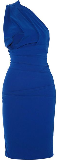 Preen by Thornton Bregazzi One-shoulder ruched stretch-crepe dress on shopstyle.com