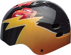Bell Cars 3 Lightning McQueen Child Multisport Helmet Fits head sizes: cm Hard-shell protection for skate park or trails 12 vents keep head cool while riding Side-squeeze buckle for easy adjustment CPSC 1203 Bike and ASTM Skate compliant Helmets For Sale, Kids Helmets, Skateboard Helmet, Bicycle Helmet, Cars 3 Lightning Mcqueen, Disney Cars 3, Yellow Online, Sports Helmet, Kids Bike