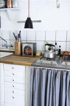Køkkener - Gardiner som låger