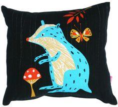 Image of Woodland Badger cushion