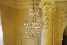 Vintage Deckenlampen - alter Kronleuchter, Kristallbeere, KK60 - ein…