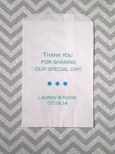 Thank you for sharing our special day Wedding Favor Bags Candy Buffet Bar Bags Candy Treat Bags White Kraft Bags Customizable Favor Bags