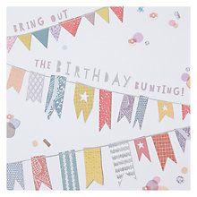 24 best briethla sona duit images on pinterest saludos de buy hotchpotch bunting birthday card online at johnlewis m4hsunfo