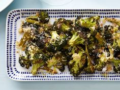 Asiago Roasted Broccoli - a high-fiber recipe that features a clever method for roasting broccoli: preheat a baking sheet before adding the vegetables, ensuring crispy, browned edges.
