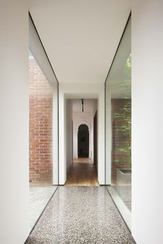 This project is an extension and restoration of a historic home in Ballarat. The contemporary addition extends from the south side . Architecture Old, Historical Architecture, Contemporary Architecture, Architecture Details, Home Interior Design, Interior And Exterior, Church Conversions, Garden Nook, Glass Structure