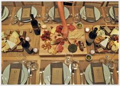 cheese and wine party table.