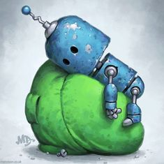 Matt Dixon, Cute Deadpool, Steampunk Robots, Character Art, Character Design, Robot Illustration, Gothic Fantasy Art, Space Artwork, Arte Robot