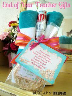 What a sweet teacher's gift!  Much nicer than the little trinkets...
