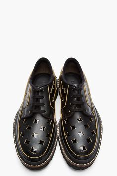 The Best Men's Shoes And Footwear : MARNI // Black Leather Patent Cut-Out Derbys Low top leather derbys. Sock Shoes, Men's Shoes, Shoe Boots, Shoes Sneakers, Dress Shoes, Men Dress, Derby, Formal Shoes, Casual Shoes