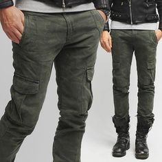 Military Camouflage Slim Cargo Pants