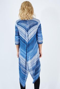 Ombre Striped Open Cardy