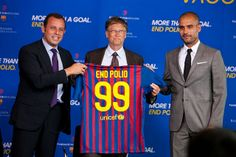 Bill #Gates & Sandro Rosell & Pep #Guardiola. #Barça #fcbarcelona #endpolio (by Gates Foundation)