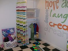 playroom/ costume rack