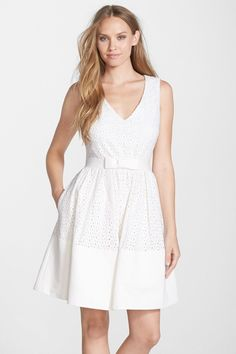 ERIN erin fetherston | 'Dixie' Eyelet Fit & Flare Dress | Nordstrom Rack  Sponsored by Nordstrom Rack.