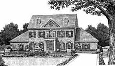 Colonial House Plan 98534 Elevation