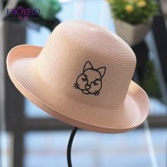 Women sun hat for Spring Summer hat straw sunscreen women hats with lovely cat big brim girls hat for vacation - hats for women Fashion Group, Fashion Tips, Fashion Trends, High Fashion, Fashion 2018, Style Fashion, Flat Platform Sandals, Cheap Boutique Clothing, Summer Hats