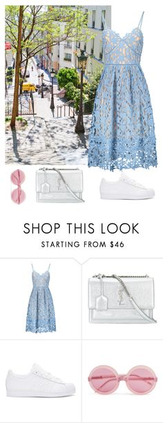 """""""Paris"""" by eellcat ❤ liked on Polyvore featuring Yves Saint Laurent, adidas Originals and Wildfox"""