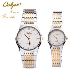 Find More Lover's Watches Information about ONLYOU 2016 Calendar Waterproof Relogio Stainless Steel Lovers Watch Women Quartz Watches Men Business Casual Wristwatch U8727,High Quality watch crown,China watch holder Suppliers, Cheap watch tool from ONLYOU Watched on Aliexpress.com