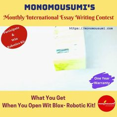 Participate & Win Robotics Kit Writing Contests, Essay Contests, Essay Writing Competition, Science Projects For Kids, Personalised Pens, Writing Styles, Writing Help, Creative Writing, Announcement
