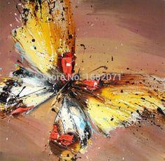 Decorative Art peinture à l'huile sur toile Peintures Salon Home Decor mur papillon animal Photos(China (Mainland))