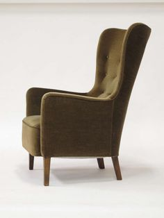 1930's Scandinavian Wingback Chair   From a unique collection of antique and modern lounge chairs at http://www.1stdibs.com/furniture/seating/lounge-chairs/