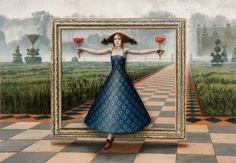 The Portal of Intoxication, oil on canvas, 137x198cm, 2011 ~ Mike Worrall