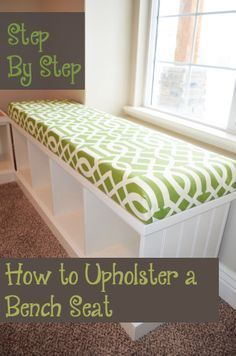 Step by Step How to Upholster a Bench Seat - This is really not that hard to do, it turned out great!