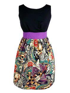 "Women's ""Head Over Wheels"" Zen Tattoo Dress By Hemet - InkedShop - 1"
